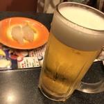 回転割烹 寿司御殿 - 生とヒラメ(〃ω〃)
