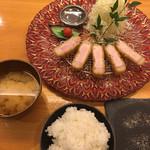 75494676 - 山形豚ロースカツ定食(´∀`)