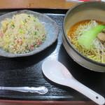 俵屋 - 炒飯と冷やし担々麺のセット(900円)