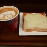 anthrop.Espresso&Comfort - モーニングセット(カフェラテ、チーズトースト)
