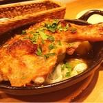 トラットリア パッツォ - 備中高原鶏もも肉!