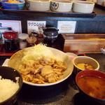 万吉食堂 - W生姜焼き定食。1,030円