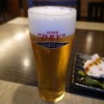 溶岩焼き×肉寿司 個室居酒屋 29house - 生ビールはスーパードライ・エクストラゴールドを使用