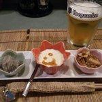 居酒屋 お箸の国 - お通し3種