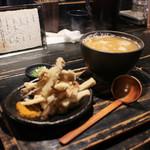 山元麺蔵 - 土ゴボウ天みぞれうどん☆