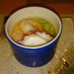 75504441 - 茶碗蒸し?温かいかと思いきや冷製。