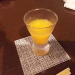 75507432 - 食前酒(あらごしみかん酒)