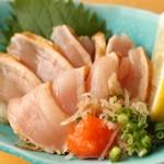鶏ムネ肉のわら焼きたたきポン酢