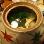 季節料理 思ひ出 - 松茸と鱧の土瓶蒸し