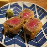 酒と肉天ぷら 勝天 - 黒毛和牛サーロインの天ぷら