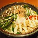 和食さと - 料理写真:たっぷり野菜サラダそば大盛り