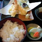 丸一 - ランチの天ぷら