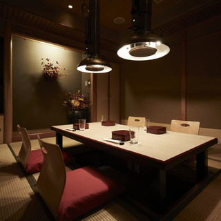 【接待・お顔合わせ】料亭の趣ある純和風の大小完全個室を完備