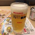 ラーメン横綱 - 2017年10月27日  生ビール(中)480円