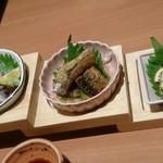 玉乃光酒蔵 梅田店 - さんまづくし790円(税込)