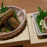 玉乃光酒蔵 梅田店 - さんまづくしの南蛮漬けと幽庵焼き