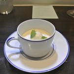 アキヒサ ハンダ - ほうじ茶のブランマンジェ