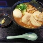 75517283 - 「豚そば半熟味玉入&ニンニク」850円