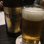 Steak&Italian Griante - プレモルの瓶ビール