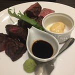 Steak&Italian Griante - 牧草牛サーロインとヒレの食べ比べ クリーミーマッシュポテト添え