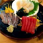 酒々屋 - 料理写真:刺身3種盛り