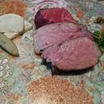 75525450 - 熟成 赤城牛しんたま&三元豚のステーキ