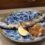 家庭料理 小川 - 秋刀魚の塩焼き