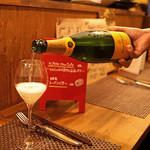 ロブスター&シャンパン Ebizo - Veuve Clicquot Yellow Label Brut