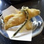 湯夢プラザ お食事処 - 岩魚の天婦羅