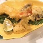 喜助 - 赤海老&松茸の天ぷら