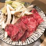 喜助 - 阿波牛と松茸のすき焼き
