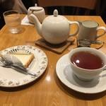 75528920 - 紅茶とチーズケーキ