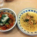 キリコ・ディ・ナポリ - デュエット3(アボカドといろいろ野菜のトマトソース、カニとエビときのこのペペロンチーノ)