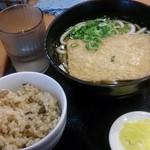 麺座 - 季節のご飯セット