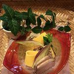 和食加藤 - 小鯛の幽庵焼き金木犀のジュレ  合鴨ロース
