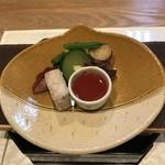 和食加藤 - 秋のサラダ梅肉ソース