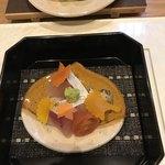 和食加藤 - しまあじ、ほたて、ニシ貝