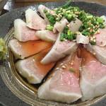 村崎炊鶏研究所 - 豚タンポン酢。