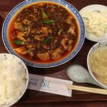 75536118 - 麻婆豆腐ランチ(´∀`)オイル