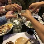 おまかせ - 冷酒で乾杯
