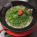 麺屋 豚丸 - 黒ねぎ爆らーめん(バリカタ)¥850