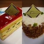 パティスリー タンドレス - (左)デズィールヌガー ¥740 (右)デリシュー ¥680