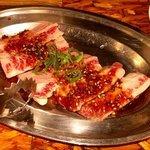 ホルモン肉五郎 - マジで牛脂かと( ̄▽ ̄;)