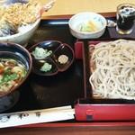 割烹処 和享 - 選べるお得なセットメニュー(海老天丼+ブタ汁せいろ) 1400円