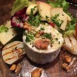 DIALOGUE - 前菜 ブルーチーズのブランマンジェとホタテのサラダ