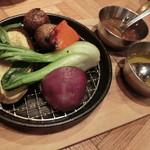 YONA YONA BEER WORKS - バーニャカウダ800円