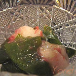 美環房 - 蕪とわかめの梅肉ソース和え