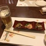 キッチン倶楽部菜好 - 生ビールとお通し