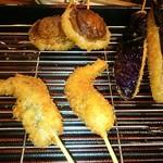 75555335 - 茄子、椎茸、旬の小魚