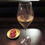 イノチェンテ - グラスワインとカポナータ(2017.8月)
